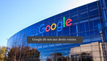 Droits voisins : Google ne paiera pas